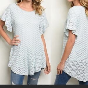 💙IT'S HERE!!💙 Baby Blue Crocheted & Lined Tunic